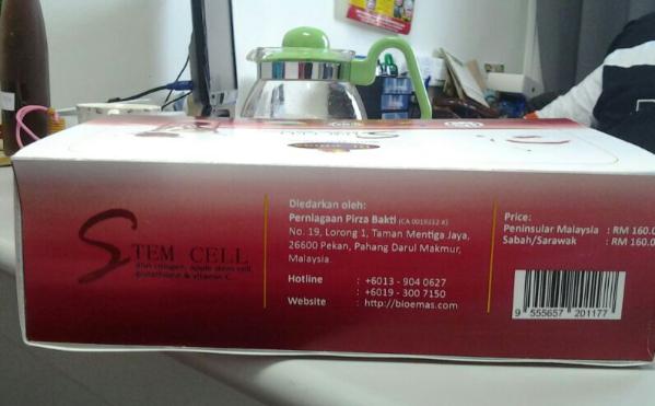 Stem Cell Fiber 3 in 1 - Cantik di luar : Sehat di dalam : Slim dipandang