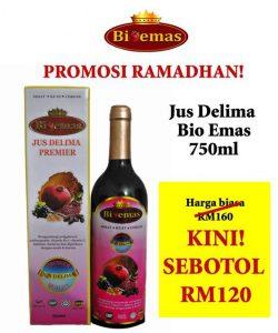Jus Delima Bio Emas 750ml Promosi Ramadhan