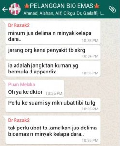 Jus Delima Bio Emas - Penyakit Tibi (TBC) Usus