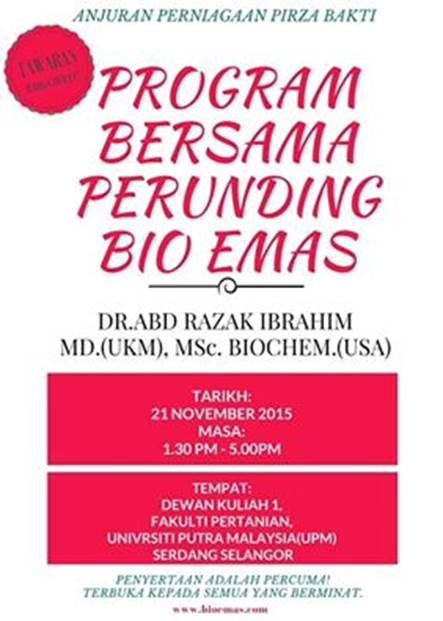 Jus Delima Bio Emas Program Bersama Dr Abd Razak Ibrahim