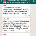 Jus Delima Bio Emas Mencegah Morning Sickness – Mabuk Mengandung, Loya, Muntah