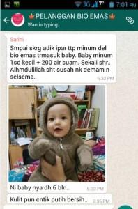 Testimoni Pati Delima Bio Emas baby cantik