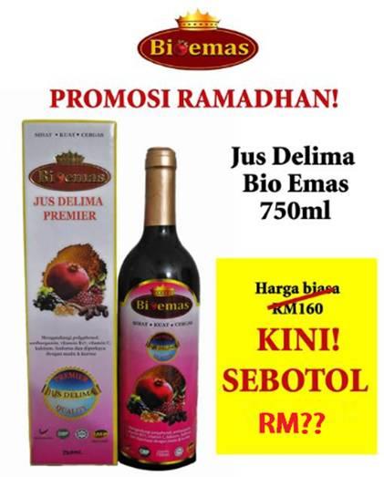 Harga Promosi Ramadhan Jus Delima Bio Emas