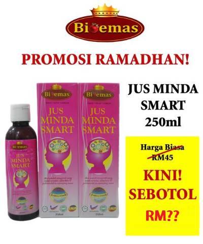 Harga Promosi Ramadhan Jus Minda Smart Bio Emas