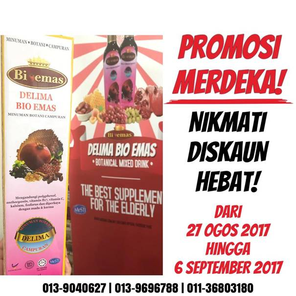 Promosi Merdeka Delima Bio Emas